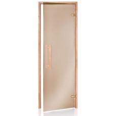 Двери для бани и сауны Wood premium бронза 80х190 купить в Киеве