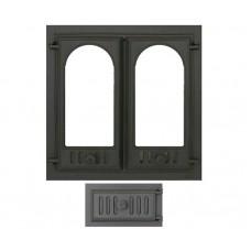 Комплект дверец для камина не герметичный SVT 400-432 купить в Киеве