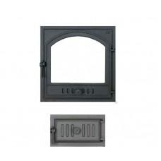 Комплект дверец для камина герметичный SVT 410-433 купить в Киеве